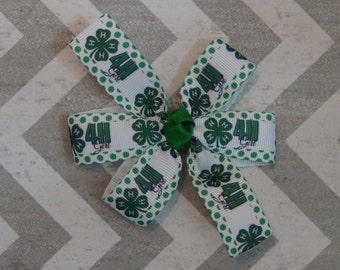 Small 4H Girl Hair Bow
