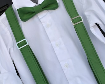 Clover Green Bowtie & Suspender Set - Baby / Toddler / Child