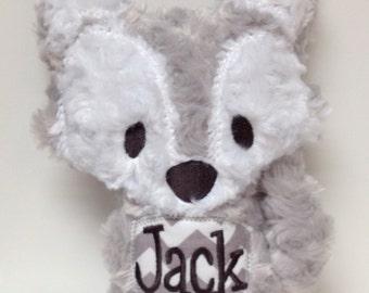 Personalized Stuffed Fluffy Plush Wolf