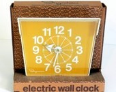 Vintage Electric Wall Clock by Ingraham    // New Old Stock //