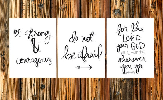Items similar to joshua 1 9 print printable art be for Bible verses for kids rooms