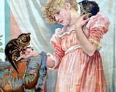 1910s THREE LITTLE KITTENS Print