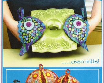 Fish Heads Oven Mitts Pattern Potholders Vanilla House Designs DIY Sewing