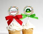 VERY HUNGRY CATERPILLAR Birthday Cupcake Toppers Printable