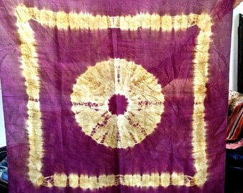 ANTIQUE FRENCH SILK Rare and exquisite textile or scarf in a beautiful purple and natural color
