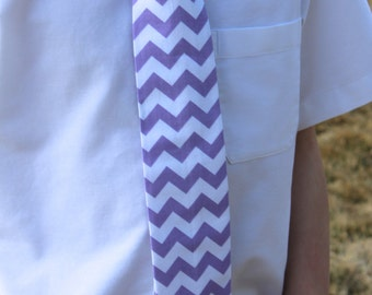 Lavender Purple and White Chevron  for Newborn to boys size 10/11  by GreenStyle