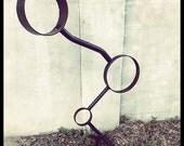 Large Outdoor Abstract Circles Metal Sculpture - Balancing Act Metal Art Piece