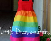 Handmade Rainbow halter dress