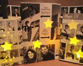 10 Yearbook Luminaries, Reunion Decor, Custom Made From Your Yearbook Pages, Decor for High School & College Reunions, Retro, Class Reunion