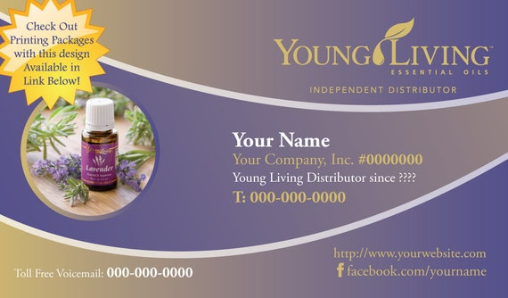 young living business card essential oils business card young