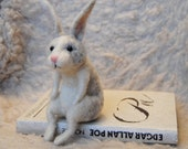 Wise Rabbit, Needle Felted Rabbit, Needle Felted Animal, Needle Felted Hare - READY TO SHIP