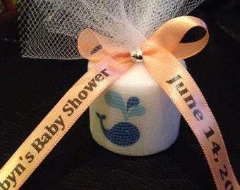 25 Baby Shower Favors,  Candle Favors, Wedding Favors, Whale themed Favors, Baptism , Holy Communition Favors