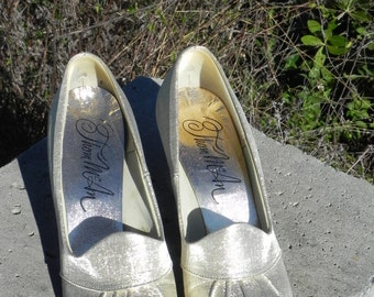1960's Gold Lame' Thom McAn Pumps