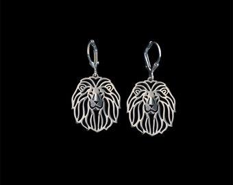 Lion earrings - sterling silver.