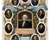 Distinguished MASONS of the Revolution George Washington Benjamin Franklin Digitally Remastered Fine Art Print / Poster