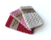 Valentine gift for women gift for wife handmade wash cloth, crochet wash cloth, crochet washcloth, cotton wash cloth, gift for her,