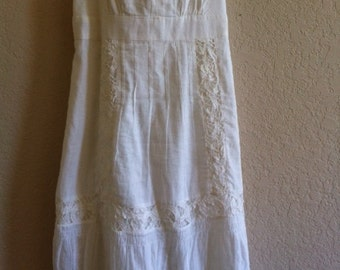 American Eagle Outfitters White Cotton Sun Dress
