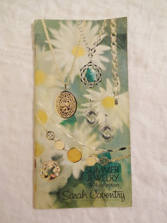 vintage sarah coventry catalog 1974 summer jewelry collection