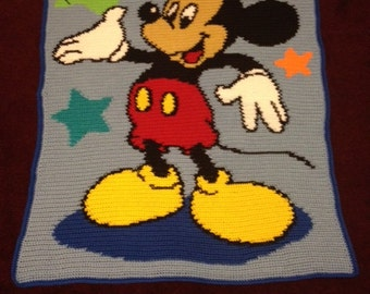 Mickey Mouse Crochet Blanket