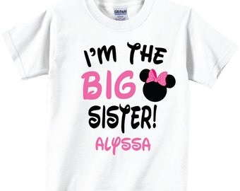 I'm The Big Sister Shirts Cute Pink Bows Tees