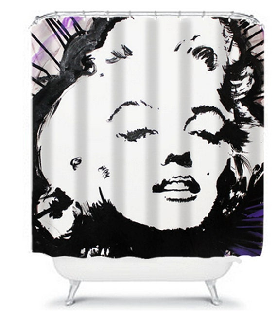 Marilyn Monroe Shower Curtain by ArtByLoyal on Etsy