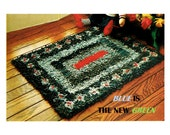 Digital Download Recycled Denim Latch Hook Rug Pattern - Hippie Cool Style While Thinking Green - Crafting Supplies PDF Rug Pattern