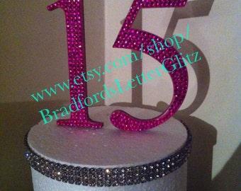 Bling 15 Cake Topper