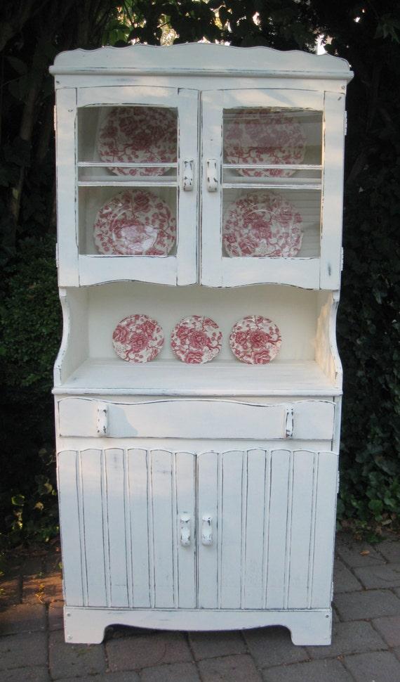 reserved karen vintage china cabinet hutch shabby chic. Black Bedroom Furniture Sets. Home Design Ideas