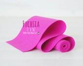 "100% Merino Wool Felt - 5"" x 36"" Felt Roll  - Wool Felt Color Fuchsia-4050 - European Wool Felt - Bright Pink Wool Felt - Pure Wool Felt"
