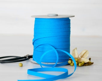 "Peacock Cotton Ribbon - 5, 20 or 109 Yards - 100% Cotton from Italy- 1/4"" wide - Turquoise Eco Friendly Ribbon - Cotton Ribbons - Bulk Trims"