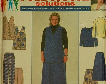 Vest, Skirt, Pants & Knit Top by Mary Duffy -1990's - Simplicity Pattern 7863 Uncut  Sizes  18W-20W-22W-24W   Bust 40-42-44-46""