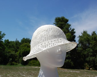 FREE SHIPPING Hand crochet summer hat