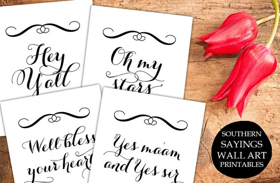 Items Similar To Southern Sayings Print Art, Printable