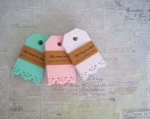 Gift Tags, Vintage Lace Tags, Summer Tags,PICK YOUR COLOR Tags, Gift tags, Wedding Tags,Baby Shower Tags,Favor Tags, Holiday gift tags, Tags
