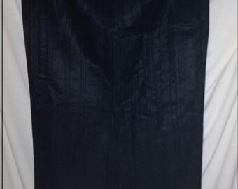 Romeo Gigli vintage black long pencil skirt front slit mint