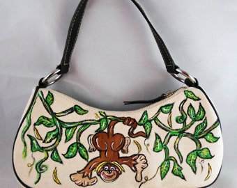 Jungle Monkey Hand Painted Purse