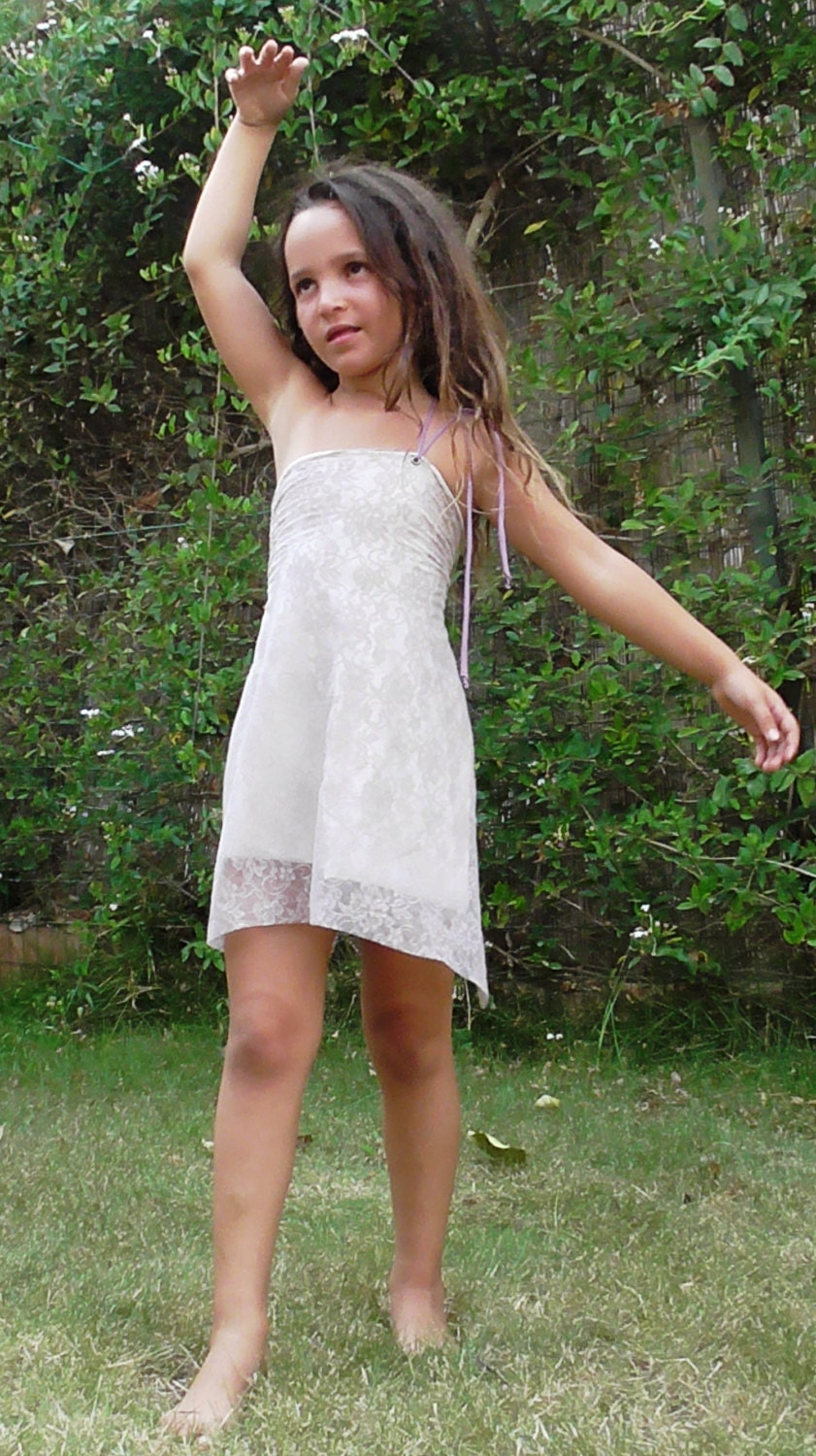 Lace boho flower girl Dress girls boho dress Girl purple