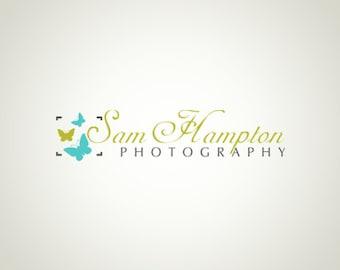 Premade Logo Design and Watermark Photography logo Butterfly logo Camera Logo Elegant Logo Custom Logo Business Logo Logo Designer