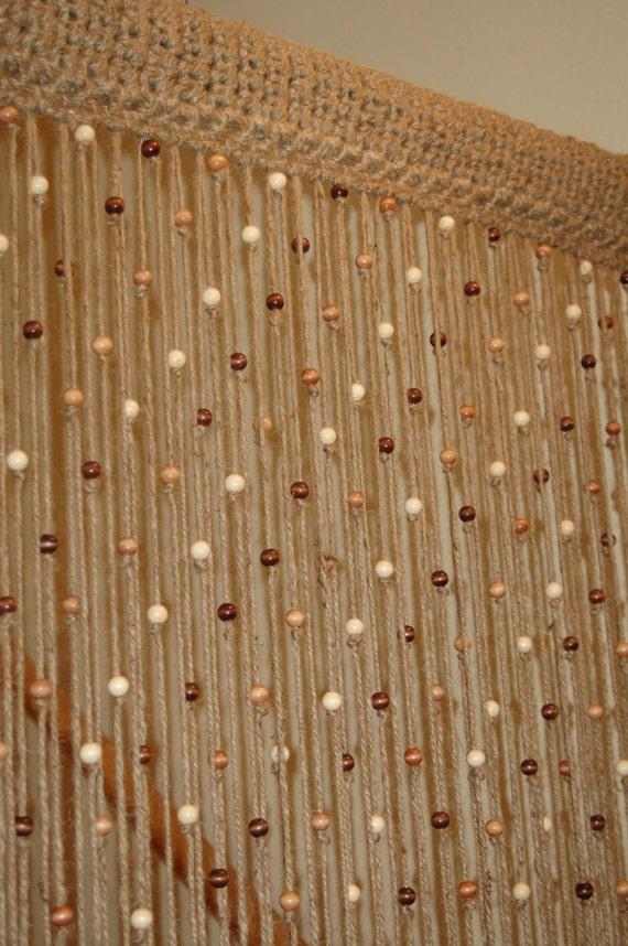 Деревянные шторы на дверной проем своими руками