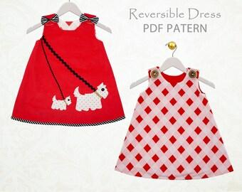 Baby dress pattern pdf, baby sewing pattern, childrens sewing pattern pdf, baby Girls dress pattern, baby clothing pattern, newborn SCOTTIE
