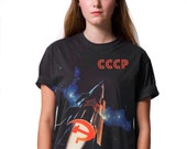 Space Race CCCP Soviet Propaganda T-shirt by Allriot. Free Shipping.