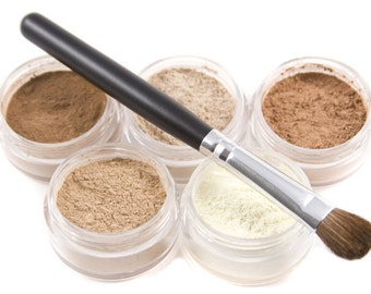 Make-up Eyeshadow 6pc NEUTRAL Eye Shadow Set Mineral Makeup