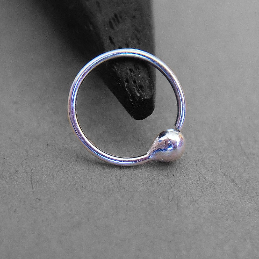 22 Gauge Nose Ring Thin Nose Ring Catchless Sleeper Hoop