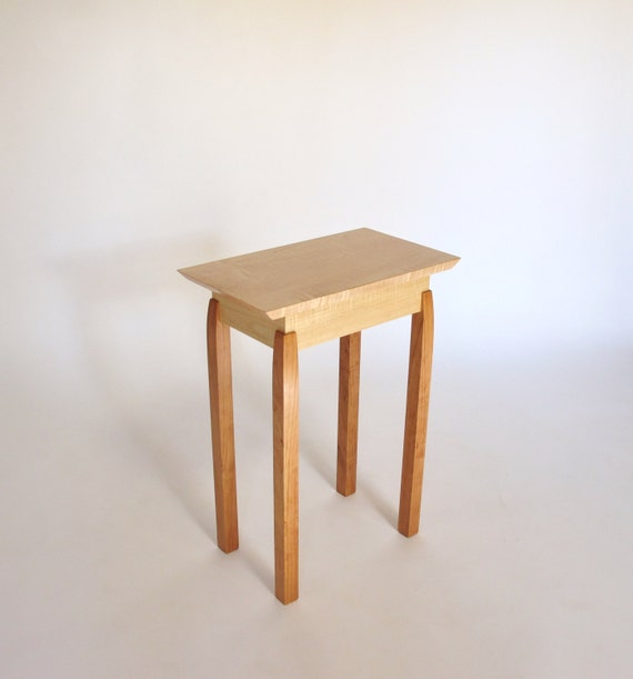Narrow end table tiger maple cherry accent table small end - Side table small space photos ...