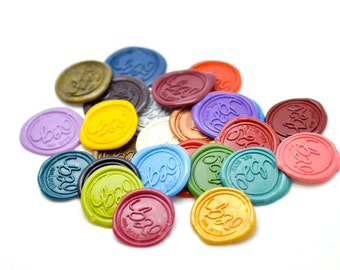 Custom Self Adhesive Wax Seal Stickers - Available in 26 Colors