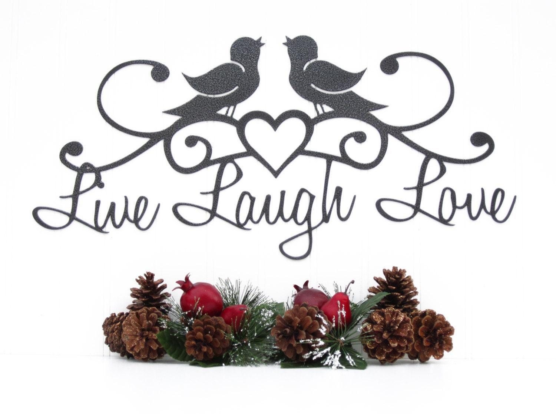 Live laugh love birds patio decor wall decor lake zoom amipublicfo Gallery