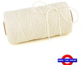 Natural Solid Color Bakers Twine - 240 yard spool - 100% Cotton - Ecru Ivory - Eco Friendly Divine Twine Made in the USA