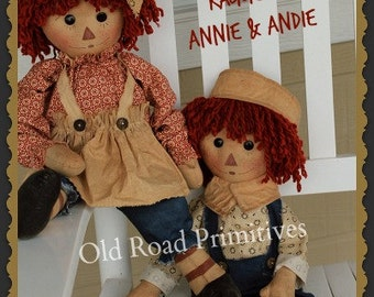Primitive Raggedy Ann and Andy Pattern Granny's Attic Raggedy Ann Andy ePattern