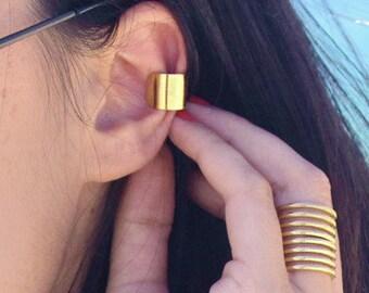 Basic Gold Ear Cuff - gold ear piece