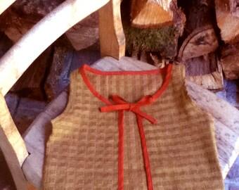Girl's Brown Tie Vest